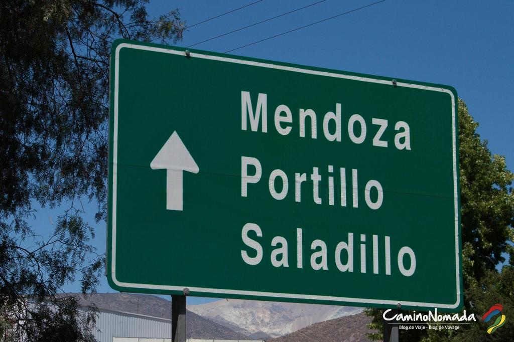 Los Andes, panneau indicateur