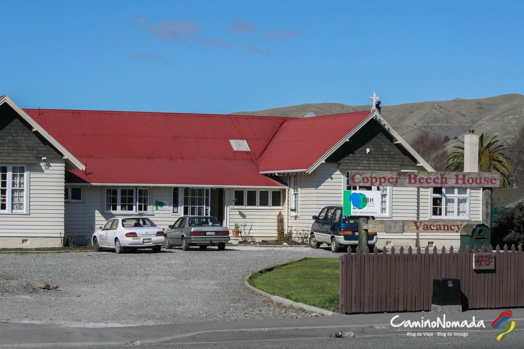Copper Beech Backpackers en Blenheim, Nueva Zelanda. El lugar donde occurio el encuentro el mas importante de mis viajes: conoci a Benjamin