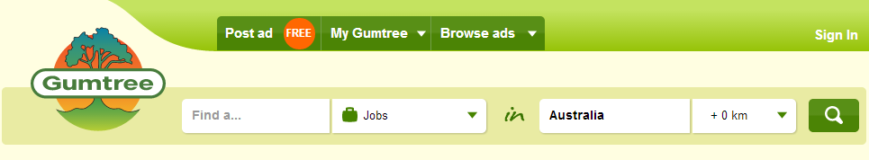 Gumtree search