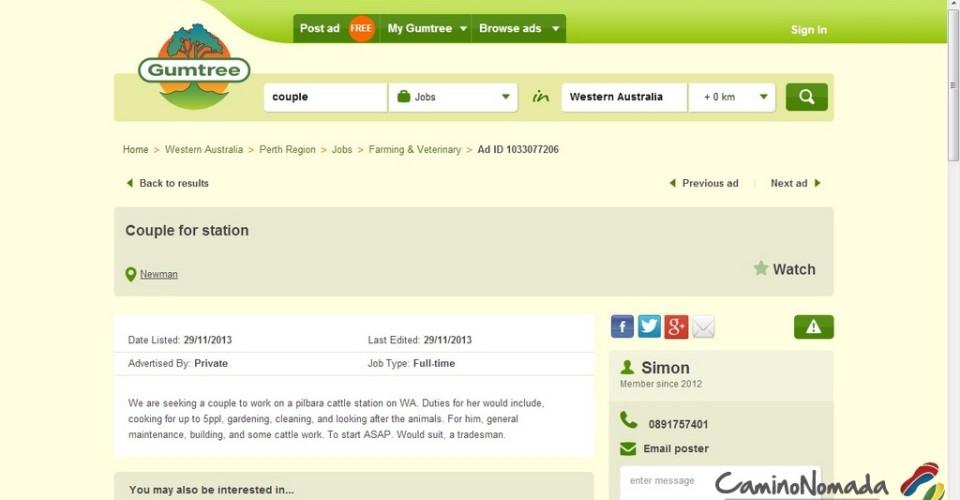 comment trouver du travail en australie