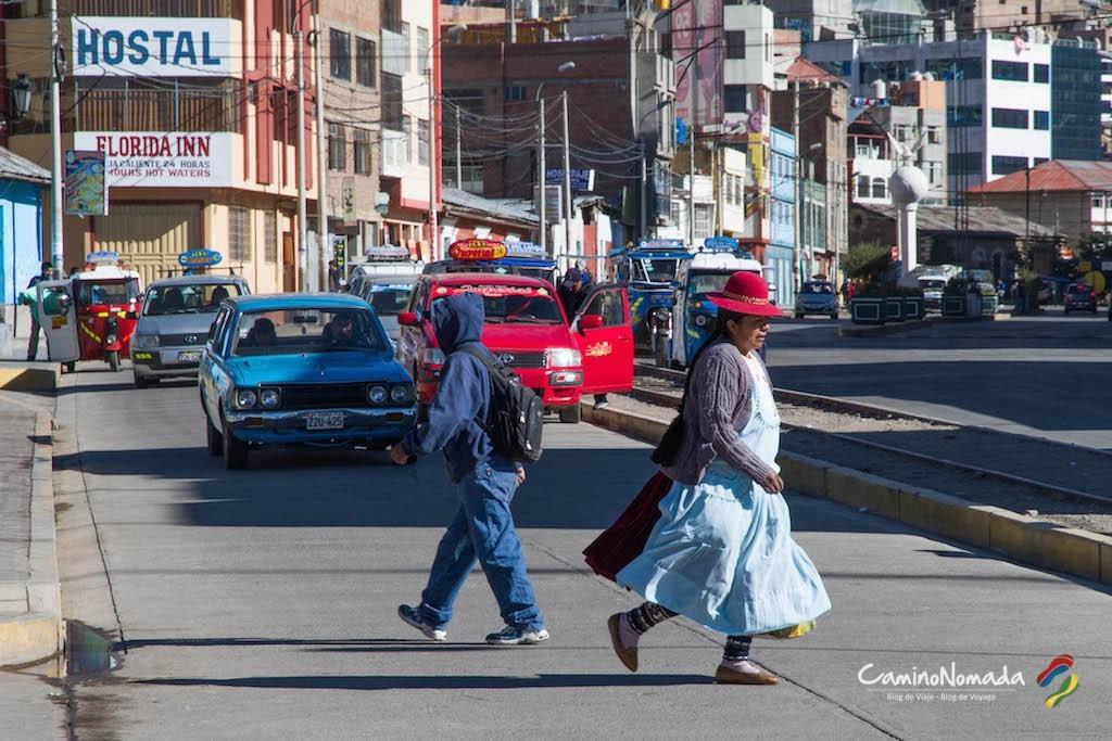 En las calles de Puno.